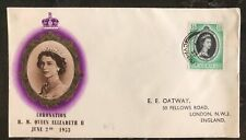 1953 Cyprus First day Coronation cover FDC Queen Elizabeth II QE2 To England B