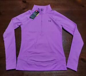 Under Armour Women's Storm Midlayer Fitted Half Zip UA Golf Training SZ XS Pink
