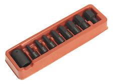 Sealey ak5609 9 pièces Clé à choc Hex / Clé Allen EMBOUT + SUPPORT SET 1.3cm SQ