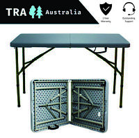 Grey Foldable 1.2 meter Folding Catering Camping Trestle Picnic Table Portable