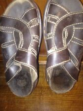 Dr Martens Docs Sandals Womens Size 6 Brown Leather Slip On Open Toe