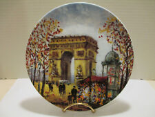 D'Arceau Limoges Collector Plate L'Arc De Triomphe Scenes of Paris by Louis Dali