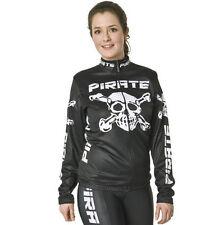Pirate Trikot Langarm Schwarz, Pirat, Skull, Totenkopf