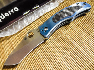 Spyderco C201TIBLP Vrango Pln Knife - DISCONTINUED - NEW