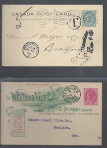 CANADA 1897-98 POSTAL STATIONERY CARDS -  THE MAPLE LEAF ISSUE