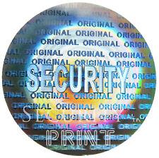 """360 """"seguridad"""" Ronda 22mm Holograma holográfica calcomanías Etiquetas c22-1s"""