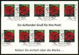 Bund Folienblatt FB 7 gestempelt, Blumen mit Blumenduft (65479)