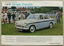 SINGER GAZELLE SALOON Car Sales Specification Leaflet 1965-66 #1185/H