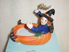 Partylite Pumpkin Witch Candle Holder -- Halloween!