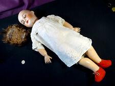 poupée porcelaine UNIS France tête et corps jumeau marquage rouge taille 11