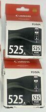 2 X Genuine Canon PGI-525BK Black Ink Cartridge for Canon PIXMA Printers 525PGBK