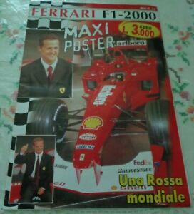 FERRARI F1 - 2000 UNA ROSSA MONDIALE CON MAXI POSTER 89 X 66