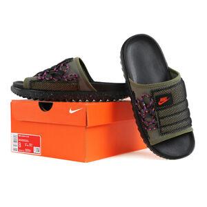 Nike Asuna Men's Slides Slipper Black/Olive DM6383-222