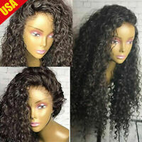 Elva hair  US Pre Plucked 100% Human Hair Lace Front Wig Full Wigs Deep curly