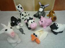 3D Novelty HANDMADE FARM ANIMAL,CAT, SHEEP, DOG, DONKEY, COW, GOAT CAKE TOPPER
