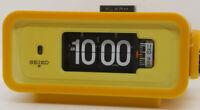 SEIKO Flip Digital alarm clock DP666T Yellow Vintage Japan AC100V
