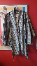 River island l'art Aztec wool waterfall Nordic tribal coat jacket size 12