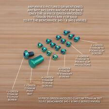 Benchmade 940-2 Osborne 16 PC Custom Titanium Screw & Pivot Set Anodized GREEN