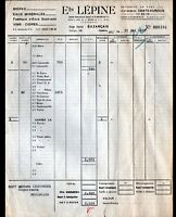 """BUZANCAIS (36) BIERES VINS CIDRES / BRASSEUR """"Ets LEPINE"""" en 1957"""