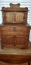 Antique Child's Oak Hutch