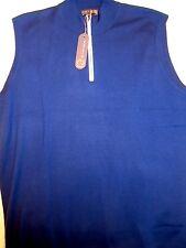 Peter Millar Element 4 Wool Blend Quarter Zip Sweater Vest NWT Large $175 Navy