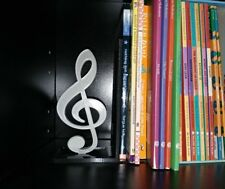 Music Themed Decorative Bookshelf Bookend Musical Notes Multi Colour