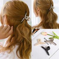 Women's Pearls Hairpins Hair Ornaments Clip Rhinestone Crab Hair Claws Headwear-