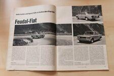 AMS 10068) Fiat 130 mit 160PS im Fahrbericht auf 4 Seiten