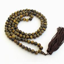 Tiger Eye Gemstone 108 Prayer Beads Tibet Buddhist Mala Necklace