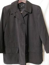 GALLERY WOMAN Half Coat/Jacket/Raincoat Detachable Liner Army Green Size M