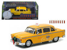 1978 CHECKER TAXI CAB SCROOGED MOVIE 1/43 DIECAST MODEL CAR BY GREENLIGHT 86075