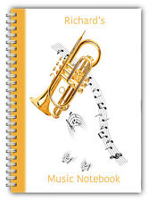 A5 NOTEBOOKS PERSONALISED/50 LINED PAGES / MUSIC NOTEBOOK PAD STUDENT GIFT 4