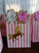 Bolsas de papel Unicornio fiesta hecho a mano, paquete de 8, Niñas Cumpleaños Fiesta