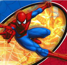 ULTIMATE SPIDERMAN  birthday party supplies lunch dinner PAPER NAPKINS Marvel 16
