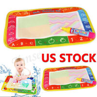 US Water Drawing Painting Writing Cloth Mat Board Magic Pen Doodle Kids Toy Nice