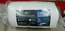 """Serta Perfect Sleeper 2"""" Feather & Down Fiber Top Featherbed Queen Topper -(D11)"""