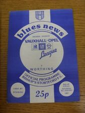 03/01/1987 Bishops Stortford v Worthing  . Condition: We aspire to inspect all o