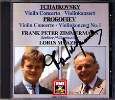 Frank Peter ZIMMERMANN Signed TCHAIKOVSKY PROKOFIEV Violin Concerto MAAZEL CD
