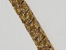 Gold Tone Vintage Bracelet Lovely Pattern 7 Inches