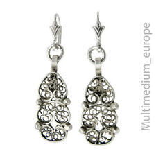 Silber Ohrringe filigran filigree 925 sterling silver earrings 🌺🌺🌺🌺🌺