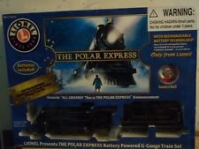 Lionel The Polar Express Train set with many accessories, G Gauge, MIB