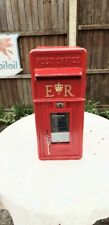 More details for post office royal mail gpo genuine original cast iron front er post box 1980s