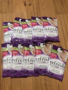 lot of 10 Ban Total Refresh Cooling Body Cloths Restore Light Powder Fresh Scen