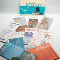 Lot of 10 Vintage Road Maps 1960's Canada Montreal  New Brunswick Maritimes