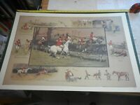 LIMITED EDITION LARGE SNAFFLES PRINT POINT TO POINT  BLINDSTAMPED./NUMBERED NEW