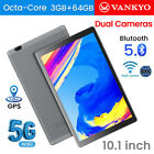 "VANKYO Matrixpad S20 10.1"" 5G WIFI Tablet 64GB Android 9.0 GPS Pad Octa Core USA"