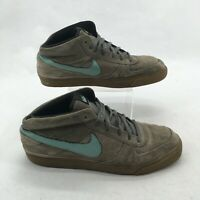 Nike Mavrk Mid 2 Skateboarding Sneakers Casual Shoes Lace Up Suede Brown Mens 12