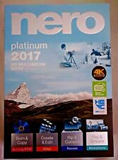 Nero Platinum 2017 For Windows - [Brand New with Free Shipping]