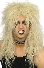 Ladies Mens 80s Blonde Mullet Rock And Roll Star Fancy Dress Costume Outfit Wig