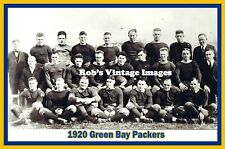 Green Bay Packers Team photo Poster NFL Vintage 1920  2nd year  photo 8 X11